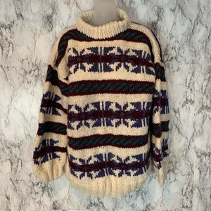 Made in Ecuador 100% Wool Vintage Thick Sweater